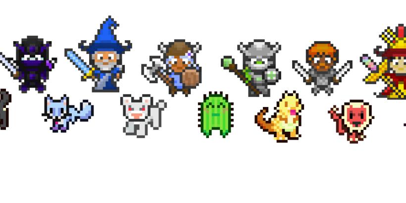 Alguns personagens do Habitica RPG